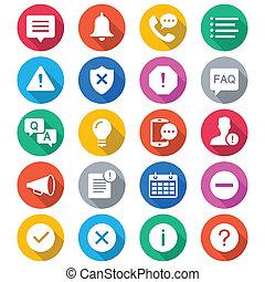 farve, information, bekendtgørelse, lejlighed, iconerne