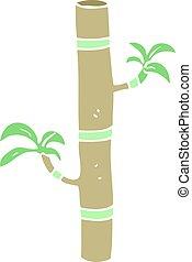 farve, lejlighed, bamboo, cartoon, illustration