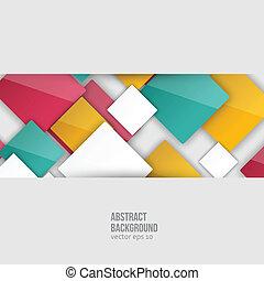 farve, squares., vektor, abstrakt, baggrund