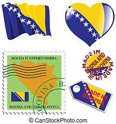 farver, national, bosnia