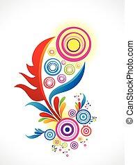 farverig, abstrakt, baggrund, blomstrede, kunstneriske