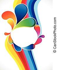 farverig, abstrakt, baggrund, kunstneriske, bølge