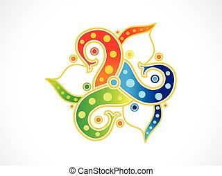 farverig, abstrakt, regnbue, blomstrede, kunstneriske