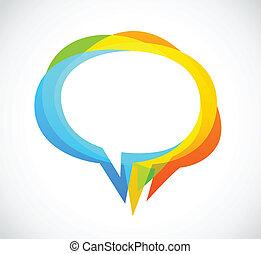 farverig, abstrakt, -, tale, baggrund, boble