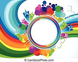 farverig, eksplodere, abstrakt, kunstneriske, bølge