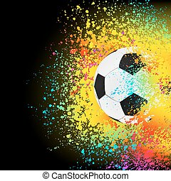 farverig, eps, baggrund, 8, soccer, ball.