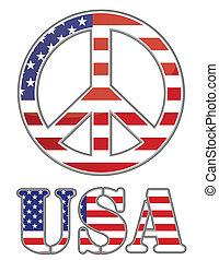 fastslår, foren, fred underskriv