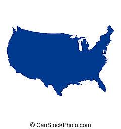 fastslår, kort, foren, amerika