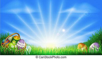 felt, åg, påske, baggrund