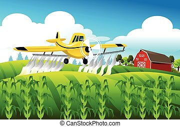 felt, hen, flyve, crop duster