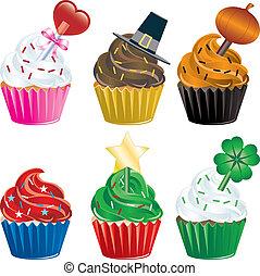 ferie, cupcakes