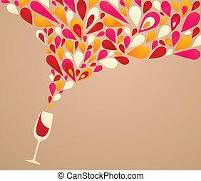 fin, baggrund, vin