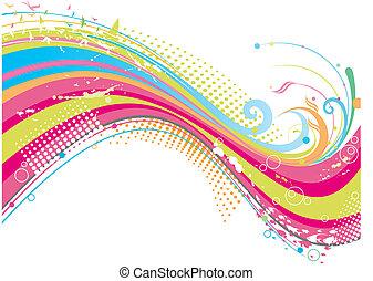 fin, farverig, baggrund