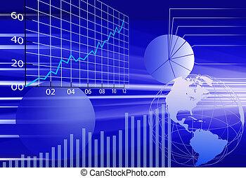 finansielle, firma, abstrakt, baggrund, verden, data