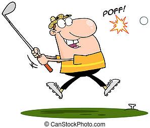 finder, golfer, golf bold, glade