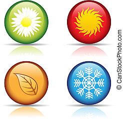 fire sæsoner, iconerne