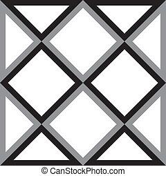 firkant, trekant, abstrakt, firkantet, baggrund, trydimensional, illusion