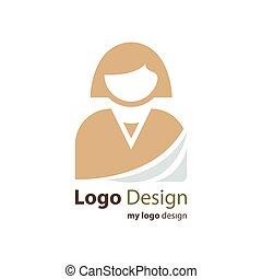 firma, logo, avatar, farve, brun