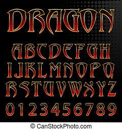 firmanavnet, abstrakt, illustration, drage, vektor, font
