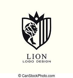 firmanavnet, banner, plakat, klassisk, embem, vinhøst, illustration, element, løve, vektor, baggrund, logo, hvid, emblem, konstruktion