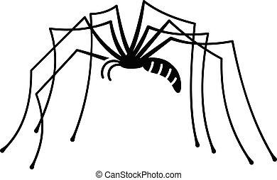 firmanavnet, ben, enkel, edderkop, længe, ikon