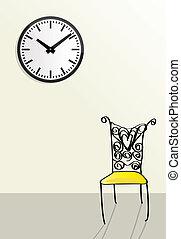 firmanavnet, doodle, begreb, venter, forbigående, tid, illustrationer