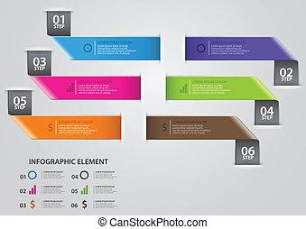 firmanavnet, foranstaltning, oppe, moderne, origami, pil