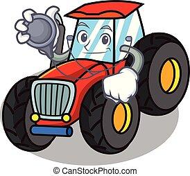 firmanavnet, karakter, cartoon, traktor, doktor