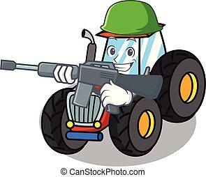 firmanavnet, karakter, cartoon, traktor, hær