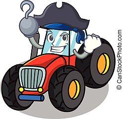 firmanavnet, karakter, sørøver, traktor, cartoon