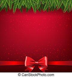 firtree, grænse, card christmas, bøje sig