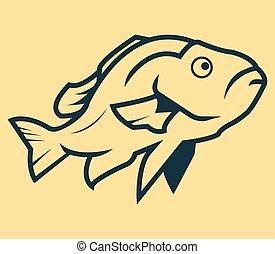 fish, kunst, beklæde