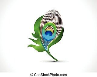 fjer, abstrakt, påfugl, kunstneriske, grønne