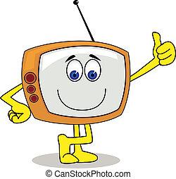 fjernsynet, karakter, cartoon