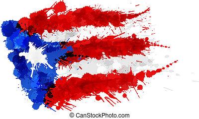 flag, rico, puerto, lavede, plaske, farverig