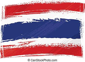 flag thailand, grunge