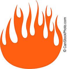 flamme, kunst, hæfte