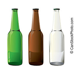 flasker, øl, vektor