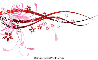 flourishes, rød