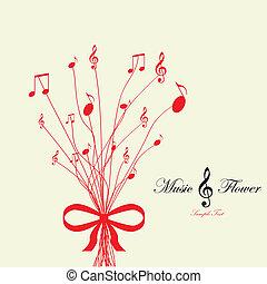 flower., vektor, musikalsk begavet, illustration
