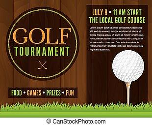 flyer, turnering, golf, illustration