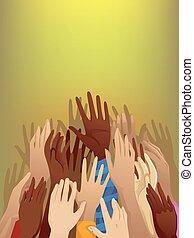 flygtning, hænder