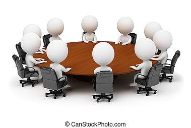 folk, -, bag efter, session, lille, tabel, omkring, 3
