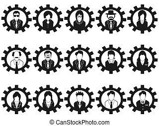 folk branche, avatar, indgreb, iconerne