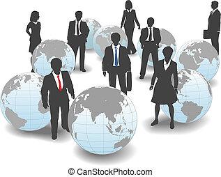 folk branche, globale, workforce, hold, verden