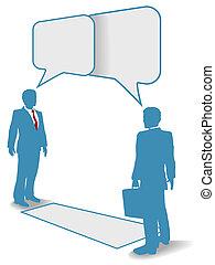 folk branche, kommunikation forbind, gøre bekendtskab med, samtalen