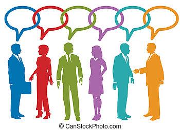 folk branche, medier, tale, sociale, boble, samtalen