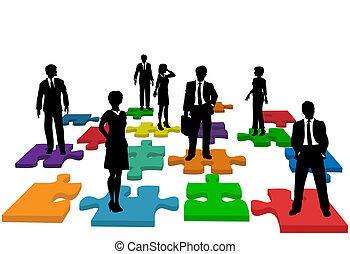 folk branche, opgave, menneske, hold, ressourcer