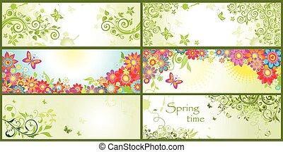 forår, horisontale bannere