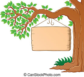 forår, image, træ 3, tema, branch